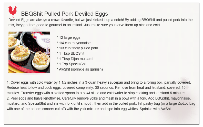 Pulled Pork Deviled Eggs