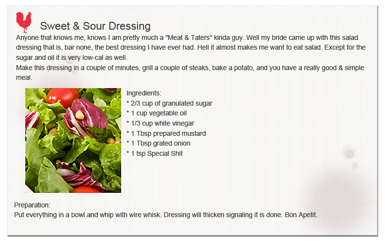 Sweet and Sour Dressing